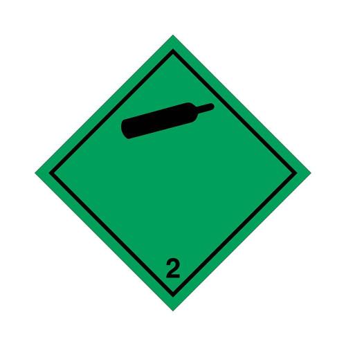 ETICHETTA ADESIVA COMPRESSED GAS CLASSE 2